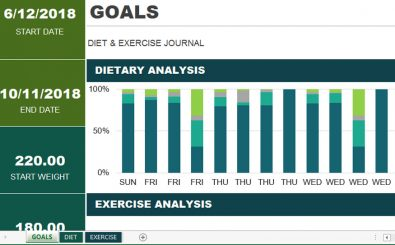 Diet & Exercise Chart Template