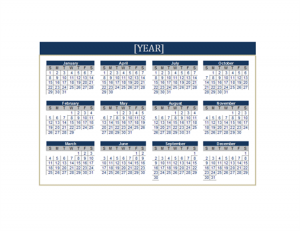 Business Any Year Calendar Template